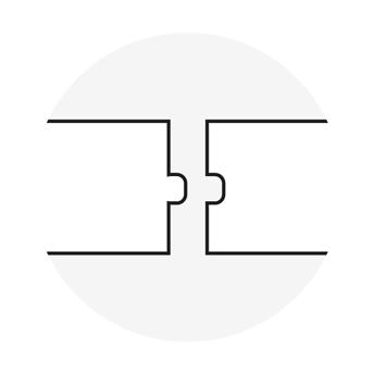 Dettaglio incastro maschio/femmina singolo